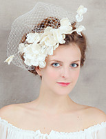 Wedding Veil One-tier Headpieces with Veil Beaded Edge Tulle