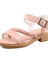 Scarpe Donna-Sandali-Tempo libero / Formale / Casual / Serata e festa-Comoda-Quadrato-Finta pelle-Rosa / Bianco / Beige
