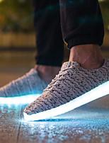 Scarpe da uomo-Sneakers alla moda / Scarpe da ginnastica-Casual / Sportivo-Tulle-Nero / Rosso / Grigio