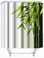 Modern Bamboo Grove Polyester Shower Curtains W71