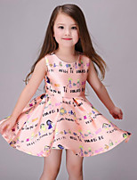 Girl's Pink Dress Rayon Summer / Spring / Fall