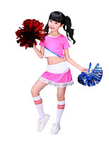 Cheerleader Costumes Children's Performance Polyester Fashion Lace Color Block 2 Pieces Outfits
