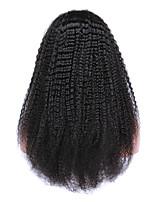 Glueless Kinky кудрявый полные парики шнурка девственные перуанские глубоко вьющиеся волосы полный шнурок человеческие волосы парики