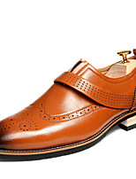 Men's Shoes Office & Career/Party & Evening/Casual Fashion PU Leather Oxfords Slip-on Black/Red/Brown 38-43