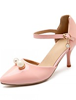 Women's Shoes Leatherette Stiletto Heel Heels Heels Wedding / Office & Career / Party & Evening Green / Pink / White