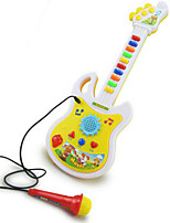 Guitar Shape Microphone Music Toy ABS White / Yellow