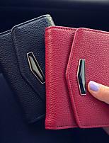VENETA Women PU Tri-fold Clutch / Wallet / Card & ID Holder-Red / Gray / Black