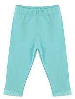 Girl's Blue / Gray Pants,Cotton Spring / Fall
