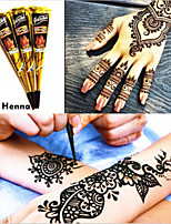12 BLACK COLOR HERBAL HENNA CONES Temporary Tattoo Body ART INK HINA KIT Mehandi