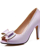 Women's Shoes Stiletto Heels/Peep Toe Heels Party & Evening/Dress Pink/Purple/White/Gold