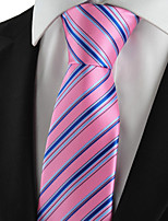 New Striped Blue Pink Mens Tie Suits Necktie Party Wedding Holiday Gift KT1001