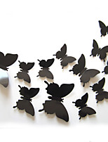 3D Wall Stickers Wall Decals Style Butterfly PVC Wall Stickers(11CM-2PCS、8CM-2PCS、6.5CM-8PCS)