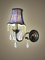 Crystal Wall Lamp With Fabric Lampshade, Bestselling In Europe And US