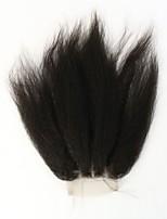 cabelo humano fechamento lace reta instock Kinky 3,5 * fechamento 4 cabelo brasileiro topo