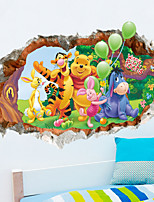 Cartoon 3D Lovely Winnie the Pooh Kids Like PVC Wall Sticker Wall Decals