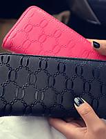 Bi-fold (due scomparti)-Pochette / Portafoglio / Porta carte di credito-Donna-PU-Bianco / Rosa / Blu / Rosso / Nero