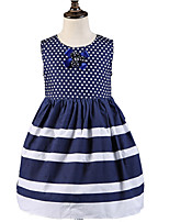 Girl's Blue Dress,Dot Cotton All Seasons