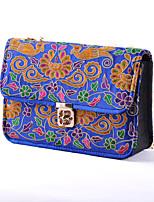 Women Canvas Baguette Shoulder Bag-Multi-color