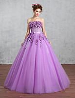 웨딩 드레스-그레이프 프린세스 바닥 길이 튜브탑 튤