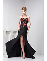 Formal Evening Dress Trumpet/Mermaid Halter Court Train Charmeuse
