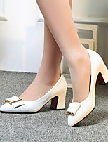 Women's Shoes Leatherette Chunky Heel Heels Heels Wedding / Office & Career / Party & Evening Black / Pink / White