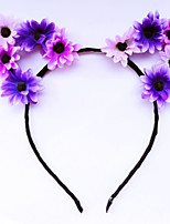 Purple Daisy Cat Ears, Flower Cat Eats, Floral Cat Ears, Ariana Grande, Flower headband, Flower halo, Flower crown