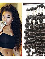 3pc / lot virgin brazilian hair inslag diepe golf 100% human hair extensions bundelt haar