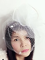 Women's Feather / Tulle / Net Headpiece-Wedding / Special Occasion Birdcage Veils 1 Piece