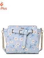 M.Plus® Women's Fashion Artwork Print PU Leather Messenger Shoulder Bag/Tote