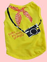 Chien T-shirt / Gilet / Vêtements / Vêtements Bleu / Incanardin / Jaune Eté / Printemps/Automne Classique / Lettre et chiffre Mode-