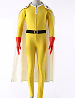 Men's One Punch Man Saitama Cosplay Costume Yellow