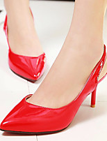 Women's Shoes Stiletto Heel/Sling back/Pointed Toe Heels Office & Career/Party & Evening/Dress Black/Red