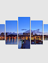 Home Decor Set Of 5 Night View Pictures Canvas Print Art Abstract Painting On The Wall
