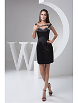 Cocktail Party Dress Sheath/Column Sweetheart Short/Mini Satin