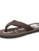Men's Shoes Casual Leather Slippers / Flip-Flops Black / Brown