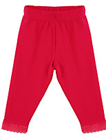 Girl's Red / Gray Pants,Cotton Spring / Fall