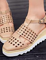 Zapatos de mujer-Tacón Cuña-Cuñas / Tacones / Plataforma / Gladiador / Punta Cuadrada-Tacones-Vestido / Fiesta y Noche-Semicuero-Rosa /