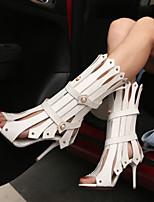 Women's Shoes Heel Heels / Peep Toe Sandals / Heels Party & Evening / Dress / Casual Black / White