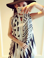 Winter New National Oversized Super Soft Cotton Geometric Print Scarf Shawl