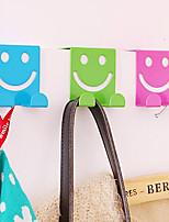creativa sin fisuras organizador sonriente z-hook ganchos ahorro de espacio de armario (color al azar)