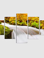 Home Decor Set Of 5 Waterfall Landscape Painting Canvas Print Art Abstract Painting On The Wall Pictures