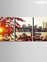 Landscape Canvas Tulosta 3 paneeli Valmis Hang,Horizontal