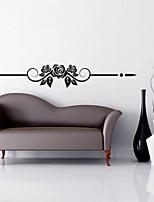 Romance / Moda / Floral Wall Stickers Autocolantes de Aviões para Parede,PVC M:15*102cm / L:23*150cm