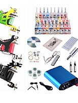 Professional Begineer Tattoo Kit KL103 3 Machines With Power Supply Grips 28x5ML Ink needles