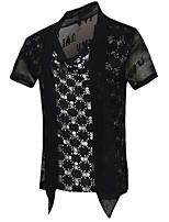 Men's Short Sleeve T-Shirt,Cotton Casual / Sport Print