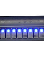2016 nuovo arrivo 12v moto dell'automobile indicatore blu luce otto interruttori