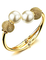 Women's Cuff Bracelet Gold / Pearl / 18K Gold Plated Non Stone