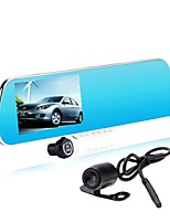 Double Lens Driving Record Of The Rear View Mirror 1080P HD 5.0 Inches Screen With Blue Mirror DVR