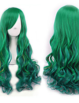 Long Length Wave Hair European Weave Multi-Color Cosplay Synthetic Wig