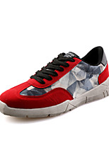 Zapatos Sneakers Ante Sintético Negro / Azul / Rojo Hombre
